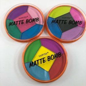 Other - 3 Santee Matte Bomb Eyeshadow Palettes